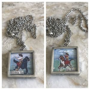 Cowgirl Pewter Necklace by Pick Up Sticks
